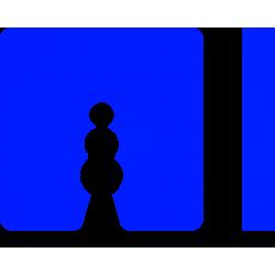 Uitvulplaatjes 8 mm blauw (25)